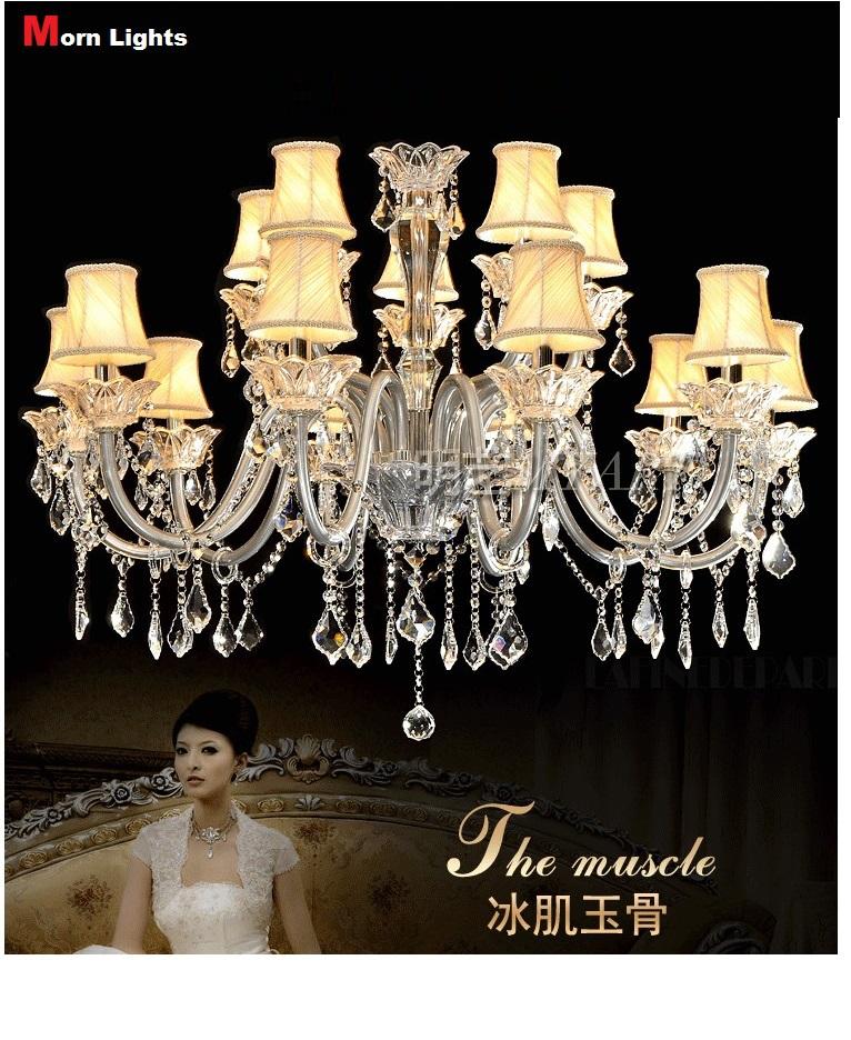 15 lights fashion modern crystal chandelier lamp living ...