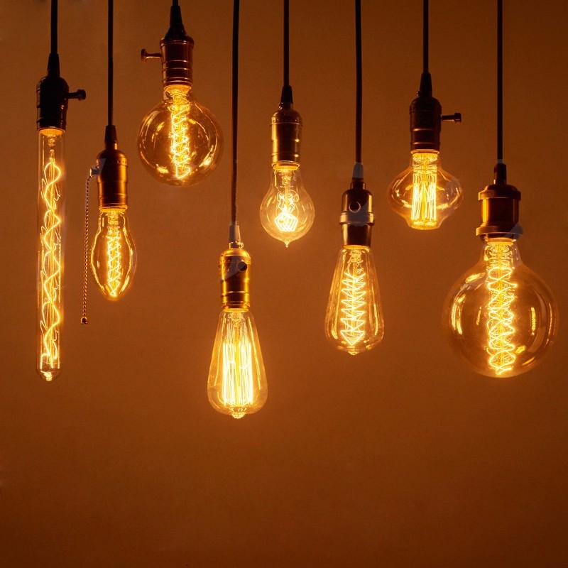 vintage edison incandescent light bulb retro edison filament lamp bulb e14  e27 110v 220v miniature antique
