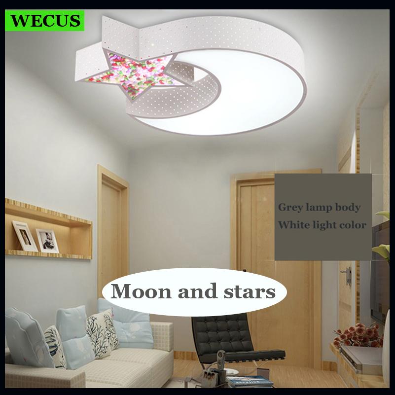 cartoon moon star ceiling lamps child baby bedroom lights