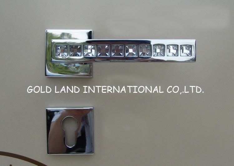 72mm 2pcs Handles With Lock Body Keys European Style Interior Door Locks